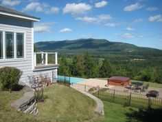 North Conway Vacation Rental - VRBO 322655 - 4 BR White Mountains House in NH, Luxury Home; 360 Mountain Views, Hot Tub, Outdoor Pool, Sauna & Many Extras