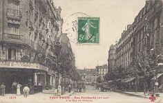 Rue Faidherbe. Saint Ambroise, Paris 1900, Memories, Mini, Painting, Antique Post Cards, Antique Pictures, Old Paris, Belle Epoque