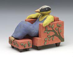 ceramic sculpture Sara Swink bird tree leaves Sitka Art Invitational Sculpture Art, Sculptures, Bird Tree, High Art, Artist Art, Online Art Gallery, Habitats, Contemporary Art, Ceramics