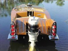 Atomic Winged Runabout with Mercury Speed Boats, Power Boats, Outboard Boat Motors, Marine Engineering, Classic Wooden Boats, Boat Engine, Boat Kits, Chevy Muscle Cars, Vintage Boats