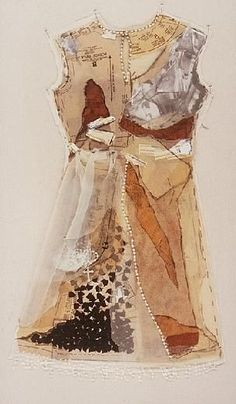 Marilyn Stevens, mixed media dress - totally amazing