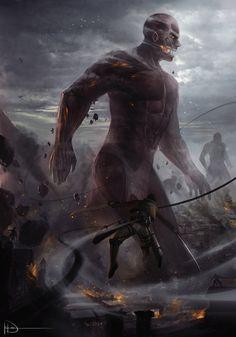 Attack on Titan | Shingeki no Kyojin - Breach by Ninjatic.deviantart.com on @deviantART