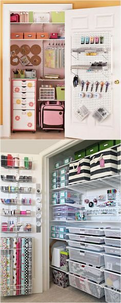 21 Great Ways to Easily Organize Your Workshop and Craft Room! Inspiring! - A Piece of Rainbow#craftroom #storage #organizing #organization #organize #diy