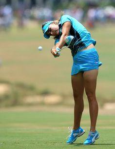Lexi Thompson shows how she gets her power, final round of U.S. Women's Open, Pinehurst No. 2, June 22, 2014
