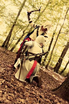 Altair Cosplay from Assassin's Creed with applecard as Connor Awesome Cosplay, Best Cosplay, Prototype 2, All Assassin's Creed, Edwards Kenway, Assassins Creed, Best Games, Otaku, Chibi