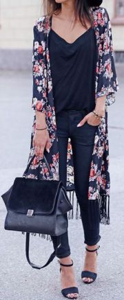 Long kimono summer outfit ideas 5