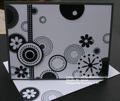 I just love black & white cards and ...well everything!
