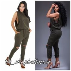 Jogger  olive open knee jogger. Available in sizes small-large. PLEASE DO NOT PURCHASE THIS LISTING. COMMENT SIZE AND I WILL MAKE A NEW LISTING FOR YOU. Brand new in package Nude Pants Jumpsuits & Rompers