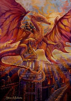 Dragon Pictures, of Dragon Riders | by Fantasy Artist Steve A Roberts