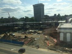 The view outside of my window of the construction that wakes me up every morning but will soon be the new student center!