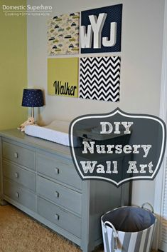 Wall Art. What a great way to get your craft on and add some color to the nursery. We love it!
