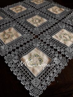 Handmade Crochet Cotton Lace Table Runner And Dresser Sca. Crochet Fabric, Crochet Quilt, Crochet Tablecloth, Crochet Blanket Patterns, Cute Crochet, Beautiful Crochet, Vintage Crochet, Hand Crochet, Lace Doilies