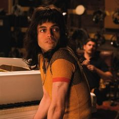 From my Bohemian Rhapsody book of the movie (kindle edition). Feel free to repost, but do credit as I bought this book myself and I'm… Rami Malek Freddie Mercury, Queen Freddie Mercury, Rami Malek Queen, Freddie Mecury, Queen Movie, Princes Of The Universe, Kindle, My Champion, Roger Taylor