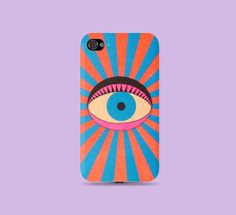 Vintage bight color Eye on you Plastic Hard Case  by CatCheeseCase, $16.99