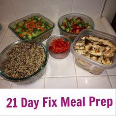 Day 1 of 21 Day Fix www.HealthyFitFocused.com Meal Plan and FItness Program