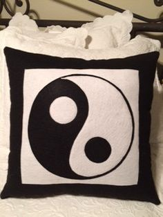 Yin and Yang/Chinese/Feng Shui/Black and by VirgiesDaughter