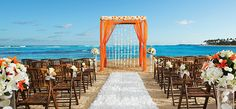Colorful ceremonies right in front of the ocean on the beach can hold parties of up to 150 people. #breathlesspuntacana