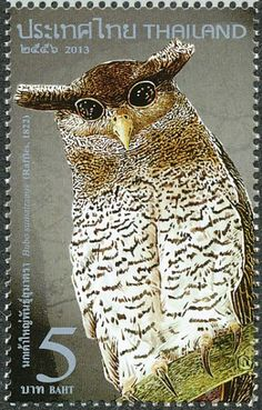 Barred Eagle-Owl stamps - mainly images - gallery format