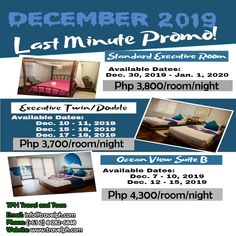 BORACAY LAST MINUTE PROMO!! Minimum of 2 persons  For more inquiries please call: Landline: (+63 2) 8 282-6848 Mobile: (+63) 918-238-9506 or Email us: info@travelph.com #Boracay #Philippines #TravelPH #TravelWithNoWorries Date, Boracay Philippines, Last Minute