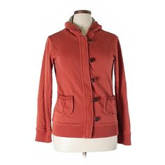 Pre-owned Merona Zip Up Hoodie Size 12: Orange Women's Tops ($17) ❤ liked on Polyvore featuring tops, hoodies, orange, red top, zip up hoodie, zip up hoodies, red zip up hoodie and hooded zip up sweatshirt