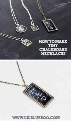 how to make vintage chalkboards | How to Make Chalkboard Necklaces (with Chalkboard Download) via ...