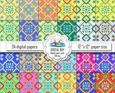 ARABIC PATTERNS  Digital paper pack  Instant by DigitalBay on Etsy