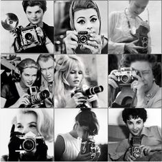 Flashback - remember when we actually took photos of OTHER people? #preselfie  Jacqueline Kennedy, Marilyn Monroe, Sophia Loren, Elizabeth Taylor, The Queen, Grace Kelly, Audrey Hepburn and Brigitte Bardot do.. Cecil Beaton, Vintage Fashion Photography, Richard Avedon, Sophia Loren, Elizabeth Taylor, Brigitte Bardot, Harpers Bazaar, Grace Kelly, Audrey Hepburn