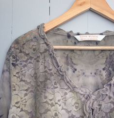 eco dyed lace feature cardigan or jacket altered couture plus size by gonerustic on Etsy https://www.etsy.com/listing/258030288/eco-dyed-lace-feature-cardigan-or-jacket
