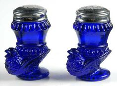 cobalt blue turkey salt and pepper shakers | Bird Salt and Pepper Shaker Set