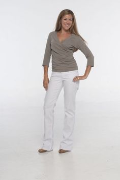 "Beija-Flor Jeans ""Judy"" White Bootcut Jean"