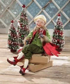 Holiday Elf by Vergie Lightfoot for Bethany Lowe Christmas