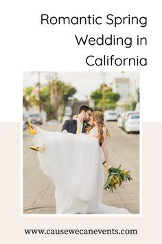 This spring wedding in California was so romantic. I love the pop of yellow color! Check out the full wedding day on our blog. Spring Wedding Destinations, Destination Wedding Planner, Colorful Weddings, Bride Groom Photos, Alternative Bride, California Wedding Venues, Spring Wedding Inspiration, Outdoor Wedding Venues, Festival Wedding
