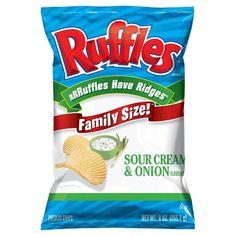 RUFFLES Sour Cream & Onion Flavored Chips- 9.0 oz.