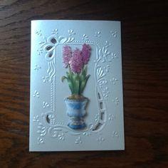Bloemenkaart met embossing