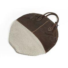 Knitting Bag, Genuine Leather Handmade Purse, Leather Purse, Knitting Hand Bag-H7272