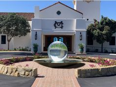 Option #2 for Montecito Country Club, my Aqualens water feature takes center stage at the club's entrance! See more here: www.allisonarmour.com Center Stage, Water Features, Fountain, Entrance, Around The Worlds, Club, Mansions, Country, House Styles