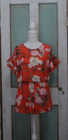 cec9ea0f4ed Floral Print Romper Size SMALL MEDIUM and LARGE  fashion  clothing  shoes   accessories
