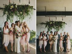 pale pink wedding party
