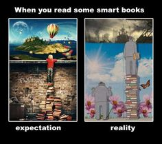 Books: expectation vs reality…