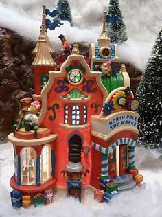 "Lemax Carole Towne ""North Pole Toy Works"" 2006 #65353L"