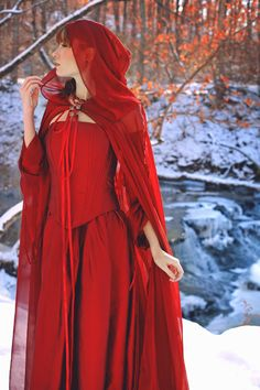I love this!  Red against snow, perfect.