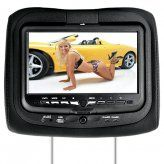 9 Inch Headrest DVD Player + Gaming System + FM Transmitter (Black Pair)