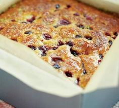 Raspberry & blueberry lime drizzle cake