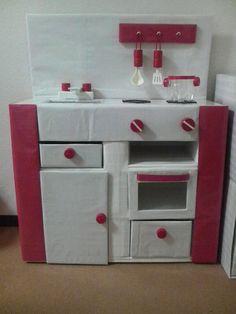 Cardboard Kitchen, Paper Crafts, Diy Crafts, Diy Toys, Diy For Kids, Holiday Decor, Home Decor, Education, Kid Cooking