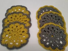 Hand crocheted coaster set by Twiddliebits on Etsy