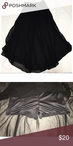 Sheer Black Maxi Skirt Chiffon OPEN TO OFFERS!! Does not fit me, I cannot model. Worn once in great condition! Small pair of shorts under skirt Lush Skirts Maxi