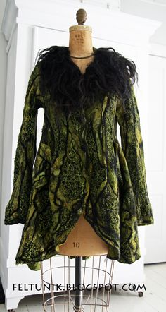 Oh the possibilities of needle felting on top of an upcycled garment!