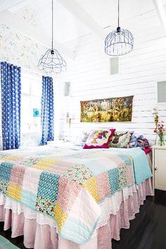 Hauska makuuhuone. Funny bedroom.   Unelmien Talo&Koti Kuvaaja: Hanne Manelius Toimittaja: Ilona Pietiläinen
