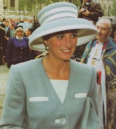 October 14, 1992: Princess Diana at a church service for the 50th Anniversary of the Battle El Alamein at Westminster Abbey.