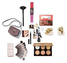 """""""Untitled #3288"""" by fashionicon67 ❤ liked on Polyvore featuring Taylor, GUESS, Topshop, Michael Kors, NYX, Maybelline, Too Faced Cosmetics, Anastasia Beverly Hills, Morphe and Ruth Tomlinson"""